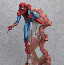 CRAZY TOYS 1/4 Spider-Man On the Wall Studios Marvel Comics Statue Collectables - $53.99