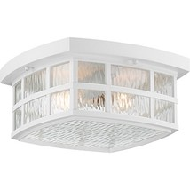 Quoizel SNN1612W Stonington Outdoor Flush Mount Ceiling Lighting, 2-Ligh... - $153.23