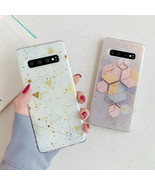 Phone Case Samsung Galaxy S10 S9 Plus Note Luxury Geometric Powder Epoxy... - $4.60+