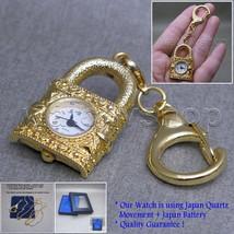 Gold Women Vintage Locket Style Pendant Pocket Watch Necklace Key chain ... - $12.99