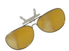 Yellow Pilot Clip On Flip Up Fishing Sunglasses - $13.33