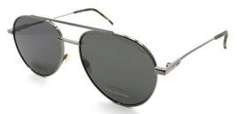 Fendi Sunglasses FF 0222/S KJ1M9 56-16-145 Dark Ruthenium / Grey Polarized Italy - $196.00