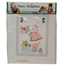 Vtg Bucilla Daisy Kingdom Stamped Cross Stitch Sampler Sp Ed Christmas 63450 NOS - $13.54