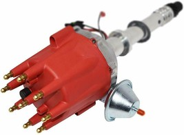Pro Series R2R Distributor for Chevrolet SBC BBC with Fixed Collar Red Cap image 2