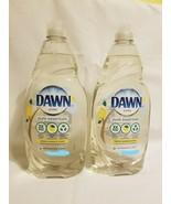 2 Dawn Ultra Pure Essentials Lemon Essence Scent Dish Liquid 7oz Ea Dish... - $14.84