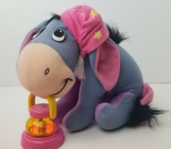 "Disney Winnie the Pooh Eeyore 10"" Plush Bedtime Pajama Cap Lantern Donkey  - $25.40"
