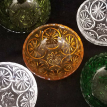 Vtg Anchor Hocking Medallion Berry Bowls, Set of 5, Various Colors (circa 1960s) - $27.00