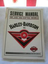 Harley-Davidson service manual 1991&92 softail models, factory manual - $75.00