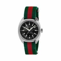 Gucci GG2570 Collection YA142305 Black Dial Nylon Strap Watch - $549.99