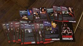 2012 SDCC WONDERCON CINEMAX FEMME FATALES COMPLETE SET OF ALL 22 PROMO C... - $34.64