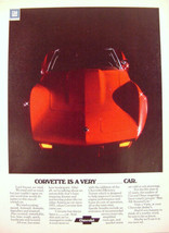 1975 red CORVETTE is a very ______ car Print Ad  - $9.99