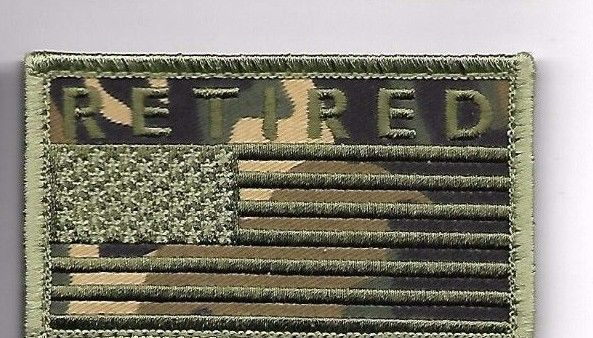 Primary image for RETIRED CAMO OD FLAG 2 X 3  EMBROIDERED PATCH WITH HOOK LOOP
