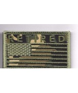 RETIRED CAMO OD FLAG 2 X 3  EMBROIDERED PATCH WITH HOOK LOOP - $15.33