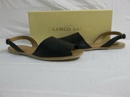 Franco Sarto Size 6 M Velvet Black Leather Ankle Strap Sandals New Women... - $53.51