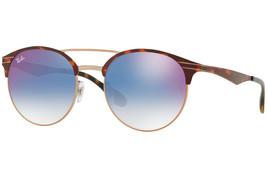 Rayban Sonnenbrille RB3545 9074X0 Landschildkröte Blau Farbverlauf Flach... - $102.89