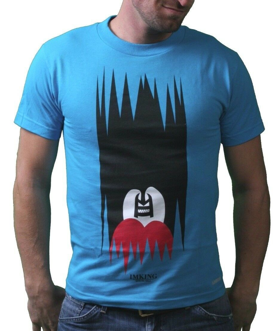 IM King Uomo Blu Caraibi Beastin Monster Beast T-Shirt USA Fatto Nwt
