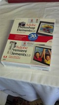 ADOBE PHOTOSHOP ELEMENTS 4.0 & ADOBE PREMIER ELEMENTS 2.0 with SERIAL NU... - $14.97