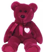 TY Beanie Buddy Valentio Jumbo the Red Bear (14 inch) MWMTs Stuffed Anim... - $23.21