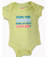 Does This Diaper Make My Butt Look Big? romper SIZE NEWBORN - $4.90