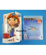 PS3 Disney Infinity 2.0 Game USED & Anna Frozen Toy Box Character Figuri... - $20.80