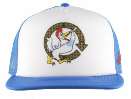 LRG Lifted House of Research Joint Smoking Cock Blue White Baseball Snapback Hat image 1