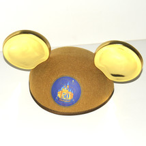 Disneyland 50th Anniversary Commemorative Hat July 17 2005 Gold Mickey Ears DLR - $17.98