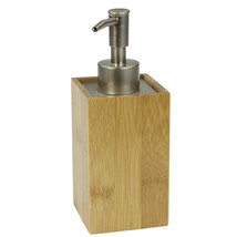 Lotion/Soap Dispenser Home Basics Bamboo Bathroom Accessory Collection - $14.09