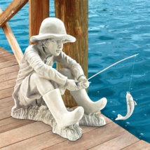 """Gone Fishing"" Fisherman Statue - $126.95"