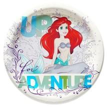 Little Mermaid Ariel Dream Big Dessert Plates Round Birthday Party Suppl... - $3.55