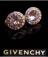 Vintage Givenchy earrings - Rose gold plate clip on - signed Bijoux Cout... - $75.00