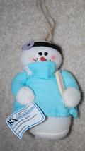 "Doctor Snowman Plush Christmas Ornament Decoration 5"" Physician Tree Gif... - $14.80"