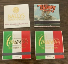 4 Bally's Casino Reno Nevada Casino Hotel Matchbook Vintage Restaurant P... - $10.84
