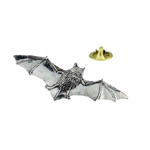 Pipistrelle Bat pewter bible  tie pin, Lapel Pin Badge, in gift box