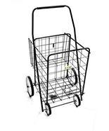 "TkUniware Folding Shopping Cart with Basket Cart Size: 39.8"" x 24.4"" x 2... - $95.04"