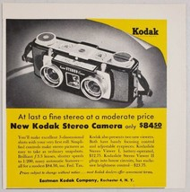 1955 Print Ad Kodak Stereo 3-D Cameras Made in Rochester, New York - $10.87