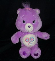 "14"" CARE BEARS SHARE BEAR PURPLE SUCKERS STUFFED ANIMAL PLUSH DOLL TOY 2... - $17.77"