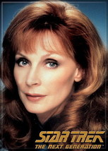 Star Trek: The Next Generation Dr. Beverly Crusher Portrait Magnet, NEW UNUSED - $3.99
