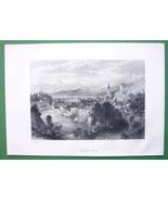 SWITZERLAND Rhine Rapids at Laufenburg - Antique Print by Birket Foster - $11.10
