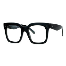 Super Oversized Clear Lens Glasses Thick Square Frame Fashion Eyeglasses - $7.97+