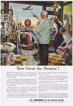 Airlines Of United States Print Ad How Great Promise Barbershop Fairchil... - $7.59