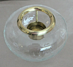 Princess House 485 Crystal Potpourri Bowl Brass Candle Holder Vintage USA Made  - $17.34