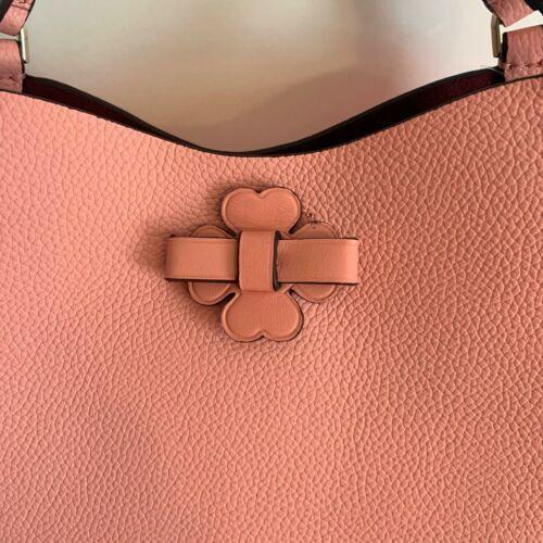 Kate Spade Talia Small Triple Compartment Leather Crossbody ~ Peachy Rose Bag image 9