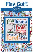 Play Golf Post Stitches cross stitch chart Sue Hillis Design - $5.40