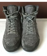 Mens Black Gucci Logo GG Crystal Studs High Top Sneaker 338947 Size 43 (... - $280.50