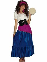 GYPSY FORTUNE TELLER ADULT HALLOWEEN COSTUME WOMEN'S SIZE STANDARD - $34.48