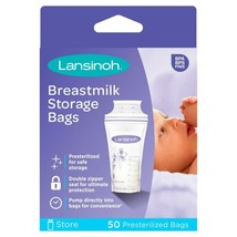 Lansinoh Breast Milk Storage Bags - 6oz/180ml, 50 Count - $17.46