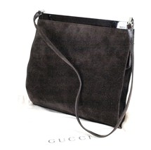 Auth Gucci Brown Suede Leather  Shoulder Bag Purse Italy Vintage 004.040... - $197.01