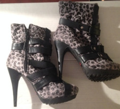 Promise Women's Animal Leopard print heel shoes size 5 1/2 - $5.99