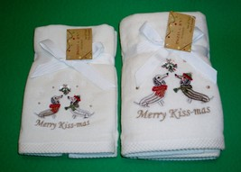 Christmas Holiday Dachshund Dogs Merry Kiss-mas Set of 2 Finger Tip & 2 ... - $30.00