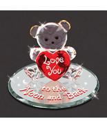 Non Metal Bear Moon And Back Glass Figurine (Length=3.87) (Width=4.06) [... - $27.72